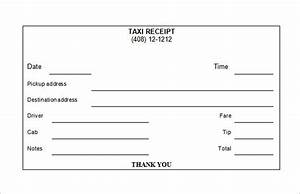 taxi receipt template 12 free word excel pdf format With limo receipt template