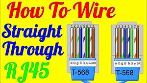 How To Make Straight Through Cable Rj45 Cat 5 5e 6   Wiring Diagram