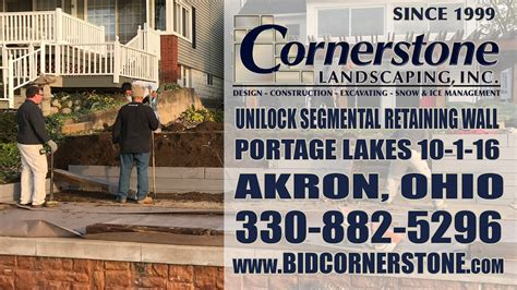 Unilock Ohio Inc unilock segmental retaining wall portage lakes ohio