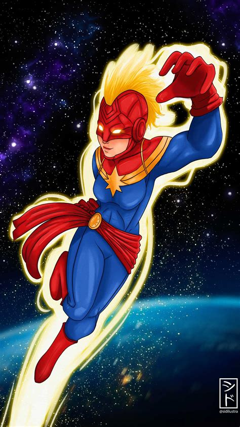 Captain marvel wallpapers high quality download free. Captain Marvel Fly over Earth iPhone Wallpaper - iPhone Wallpapers : iPhone Wallpapers
