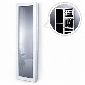 Miroir à Bijoux : armoire bijoux smsk06 avec miroir mural blanc achat vente armoire a bijoux armoire ~ Teatrodelosmanantiales.com Idées de Décoration