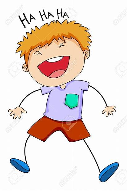Laughing Clipart Boy Laugh Hysterically Clip Happy