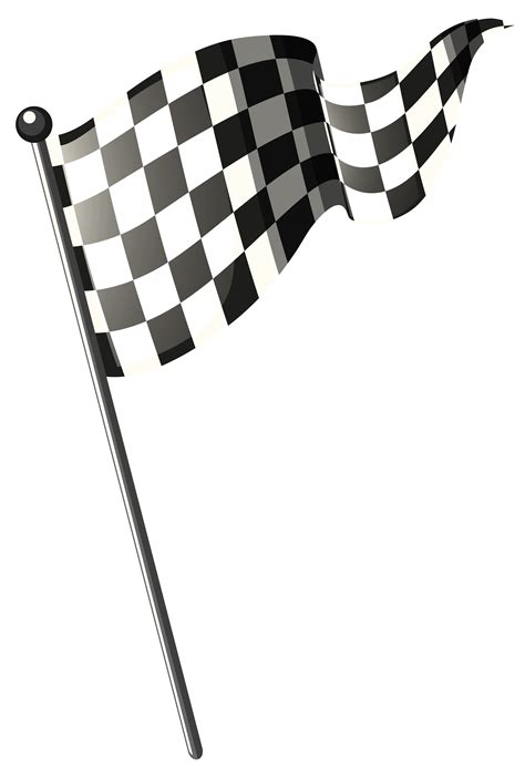 racing flag  black pole   vectors clipart