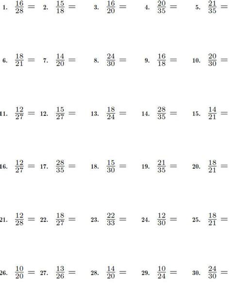 simplify fractions grade 4 simplify fractions worksheets