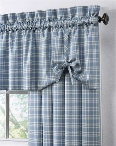 country curtains   Country Plaid Cotton Casual Curtain