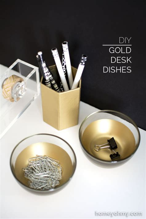 gold desk accessories diy gold desk dishes homey oh my