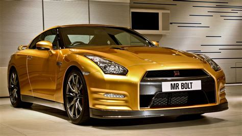 gold nissan car nissan gt r bolt gold headed down under after australian
