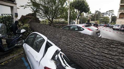 romitalien unwetter mit hagel und eis video zeigt das