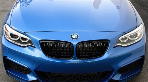 m2 metal style gloss black m color grill for bmw f22 f23 f87 2 series ebay