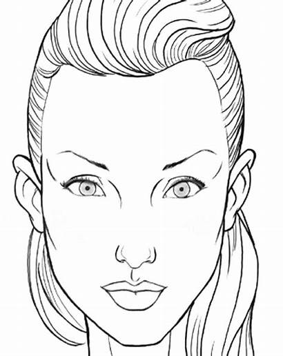Face Template Makeup Charts Chart Blank Faces