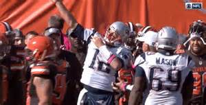 tom brady did his best newton impression celebrating a for the win