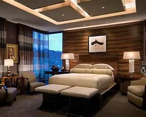 faux plafond suspendu chambre a coucher moderne tendance With plafond chambre a coucher