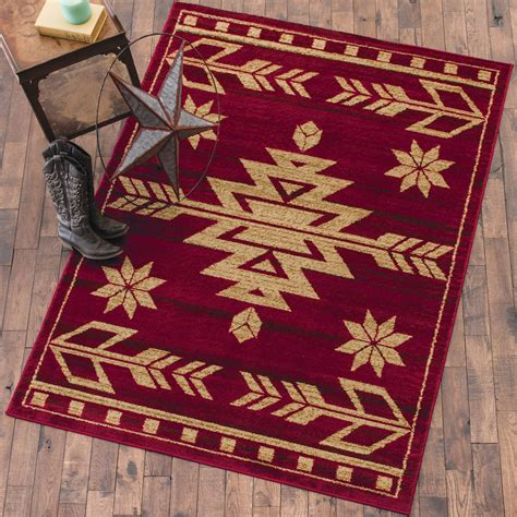 desert arrow red rug