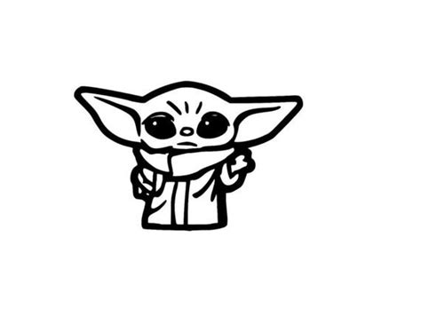 Create super easy paper or vinyl art of the child from the mandalorian. Baby yoda svg baby yoda | Etsy