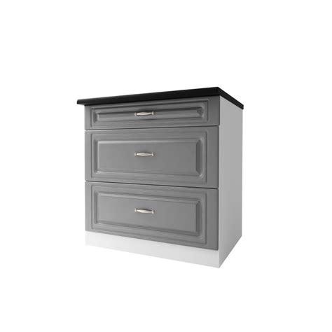 meuble cuisine 80 cm meuble de cuisine casserolier bas 3 tiroirs 80 cm dina en