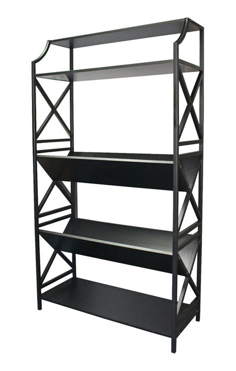 Bookcase 2 Shelf by 5 Shelf Metal Bookcase With 2 Shelves V Shape On A Slant