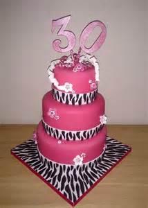 3 Tier 30th Birthday Cake