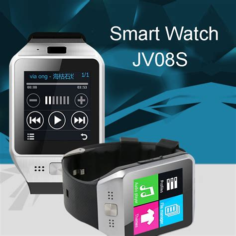 sim card for android phone jv08s bluetooth smart smartwatch phone mate gsm