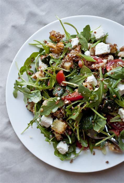 red quinoa arugula salad  beautiful plate