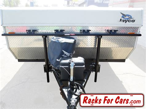tent trailer bike rack prorac proformance tent trailer racks carry 2 4 or 6