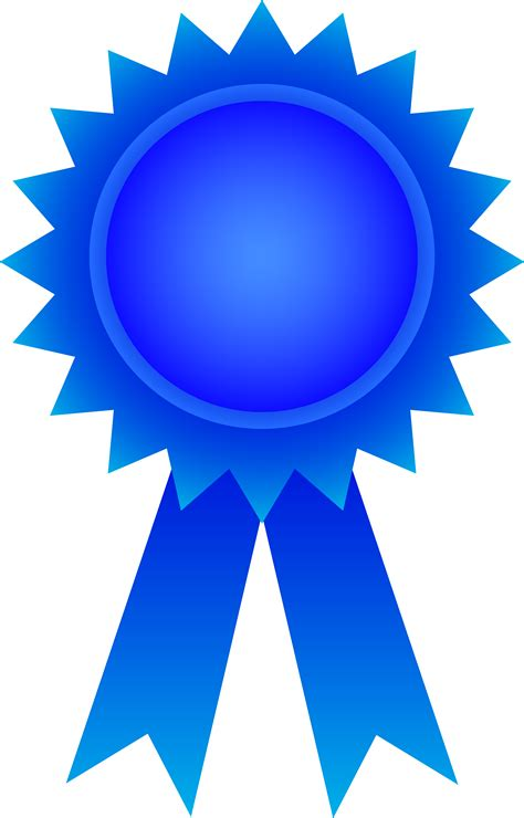 Blue Ribbon Clip Blue Award Ribbon Free Clip
