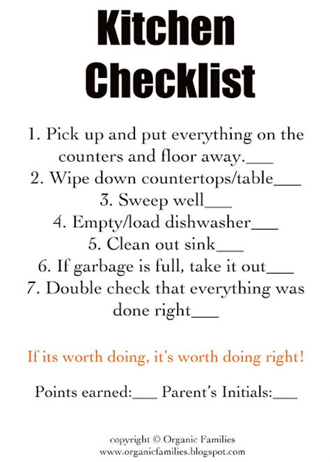 detailed check  list  kids cleaning chores kids