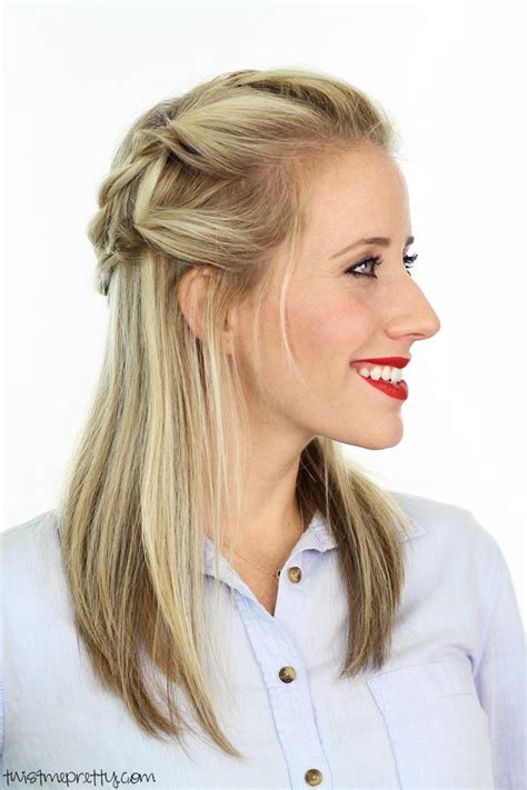 twisted pull back hairstyles from twist me pretty