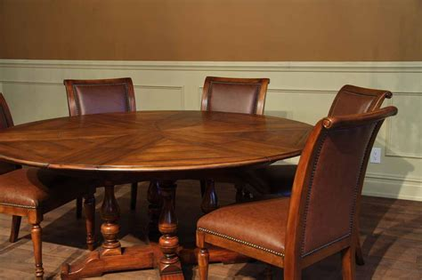 Rustic Extra Large Solid Walnut Dining Table Opens To 100