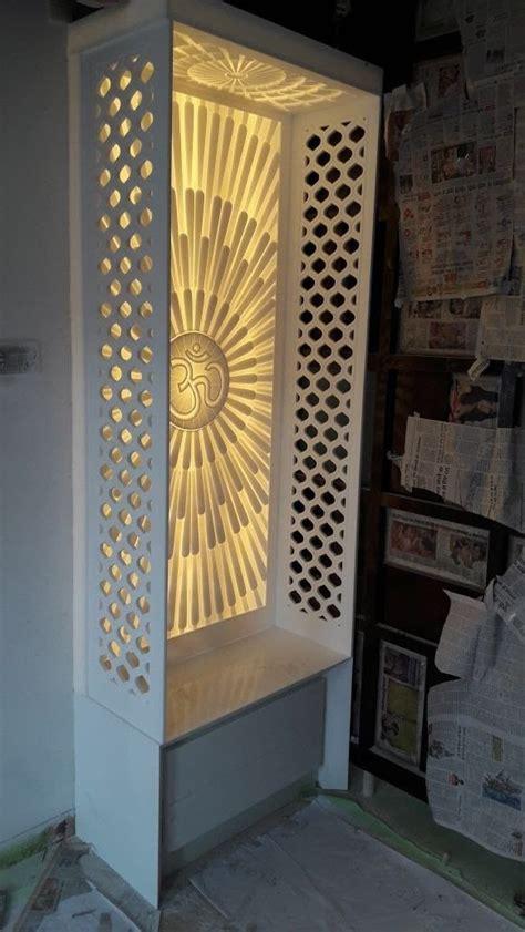 om design  corian room door design pooja room door