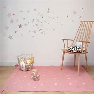 Chambre Bebe Etoile : tapis rose enfant etoiles art for kids 110x160 ~ Teatrodelosmanantiales.com Idées de Décoration