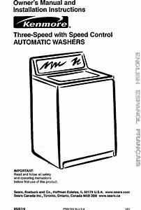 Kenmore 11022722100 User Manual Washer Manuals And Guides