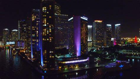Downtown Miami Skyline Wallpaper Awesome Miami Florida At Night Aerial 4k Drone Youtube