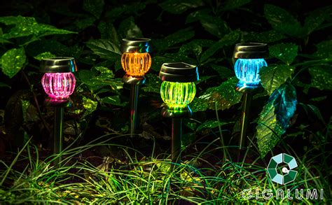 gigalumi color changing solar lights outdoor garden led