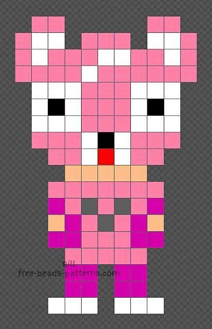 cuddle fortnite character  hama beads design