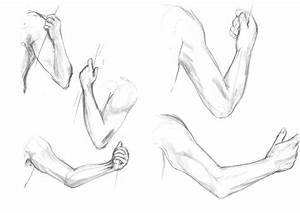 Left Human Arm Drawing