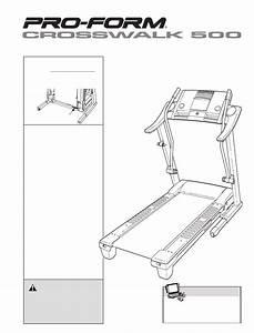 Proform Treadmill Crosswalk 500 User Guide