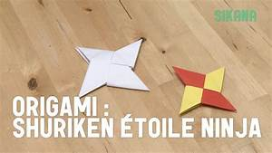 Comment Faire Une Etoile : origami faire une toile ninja shuriken en papier hd ~ Nature-et-papiers.com Idées de Décoration