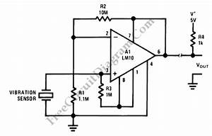 remote sensor system pre amp circuit lm101a circuit With how to wire a vibration switch