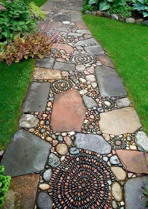 31 great ideas and pictures of river rock tiles for the best 20 river rock patio ideas on backyard