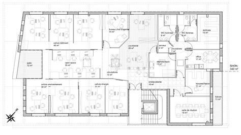 bureau plan de cagne immeuble de bureau solécité scop d 39 architecture