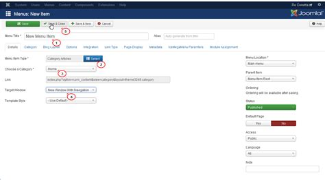 How To Upload A Template In Joomla by Joomla 3 X How To Add Menu Item Template Help
