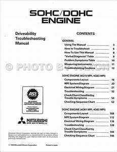 1989 Mitsubishi Sohc  Dohc Driveability Troubleshooting Manual Original