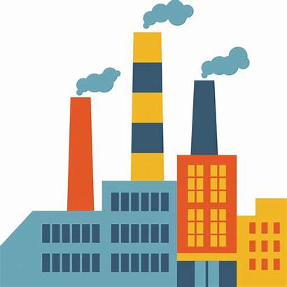 Factory Icon Chimney Creative Clipart Building Transparent