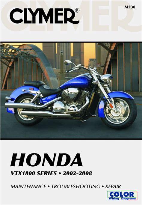 honda vtx1800 series motorcycle 2002 2008 service repair manual
