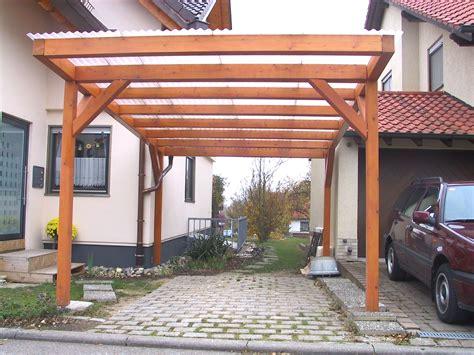 Carport Pultdach 04  Holzbau Straub