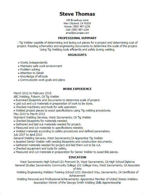 1 tig welder resume templates try them now myperfectresume