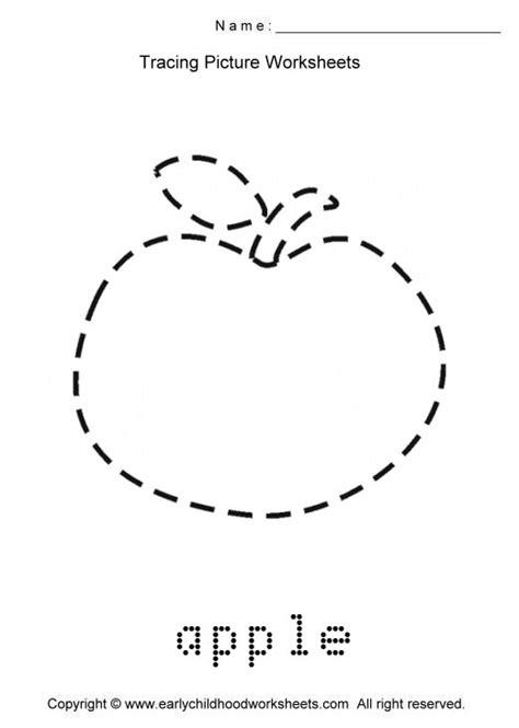 Drawn Apple Kindergarten Worksheet  Pencil And In Color Drawn Apple Kindergarten Worksheet