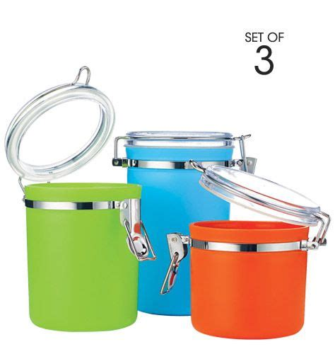 colorful kitchen canisters sets 3 colorful canister set brighten up your kitchen