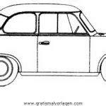 Trabant P 601 limosine (hellgrau) Motorraum