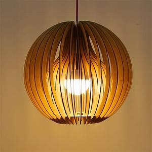 Luminaire Suspension Bois : suspension bois ~ Teatrodelosmanantiales.com Idées de Décoration